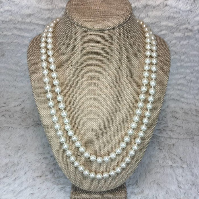 "60"" Long Pearl Knotted Necklace"