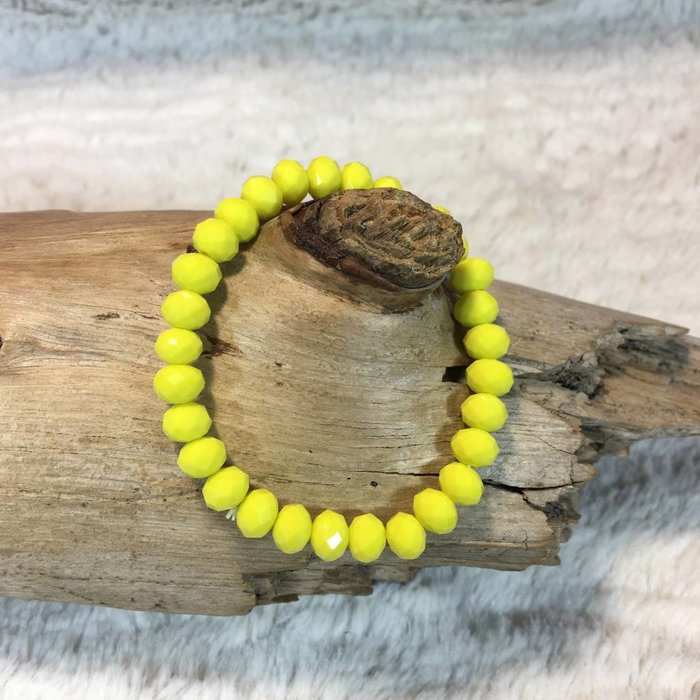Yellow Crystal Stretch Bracelet