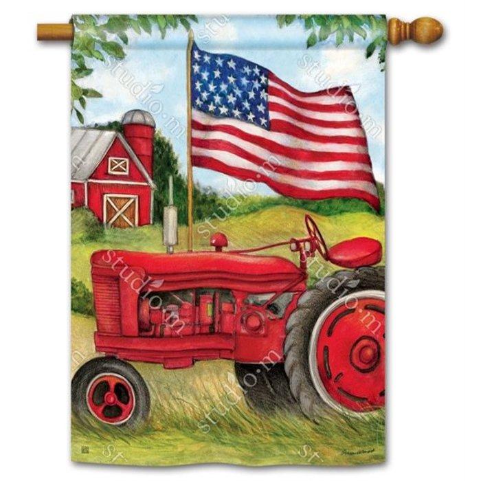 Patriotic Tractor Standard Flag