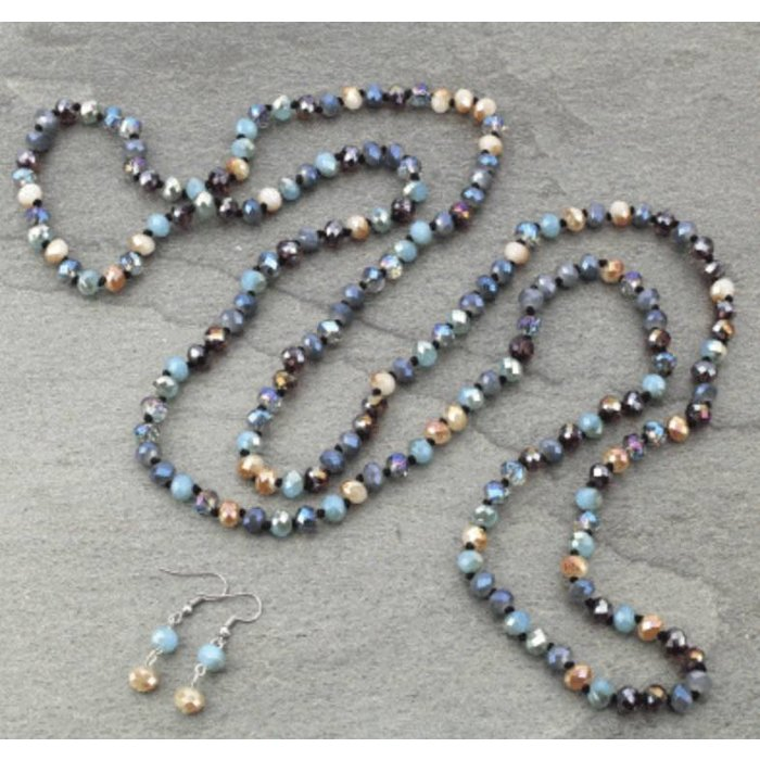 "Multi Mystic Crystal 60"" Necklace Set"