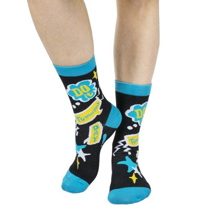 Do It Tomorrow Day Crazy Socks