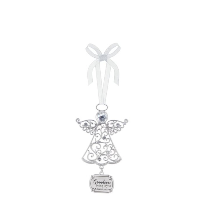 Grandmas Bring Joy to Christmas Angel Ornament