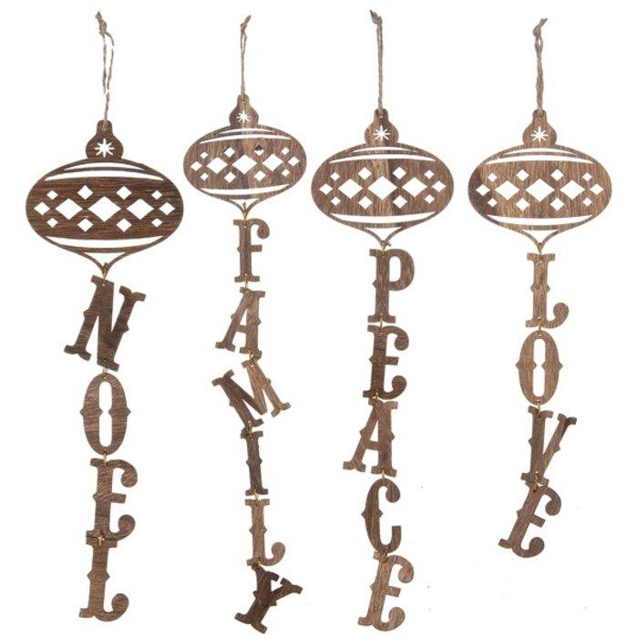 Wooden Peace Ornament