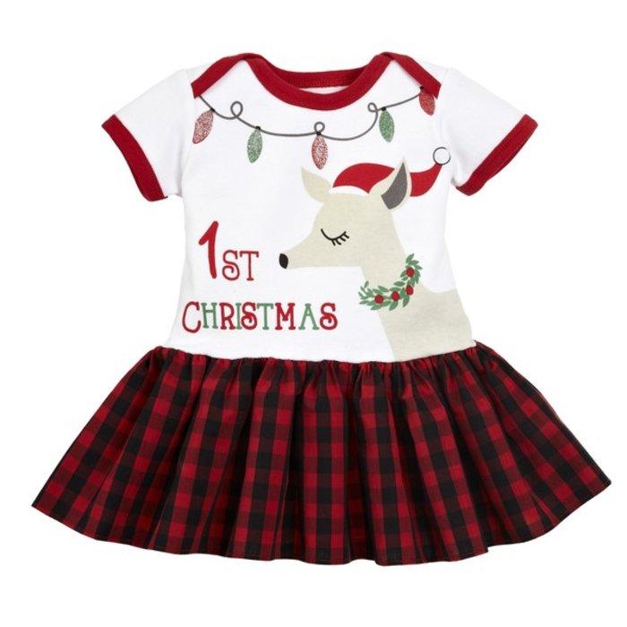 Reindeer 1st Christmas Diaper Shirt Tutu