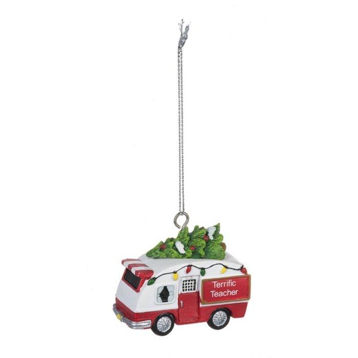 Terrific Teacher Camper Christmas Ornament