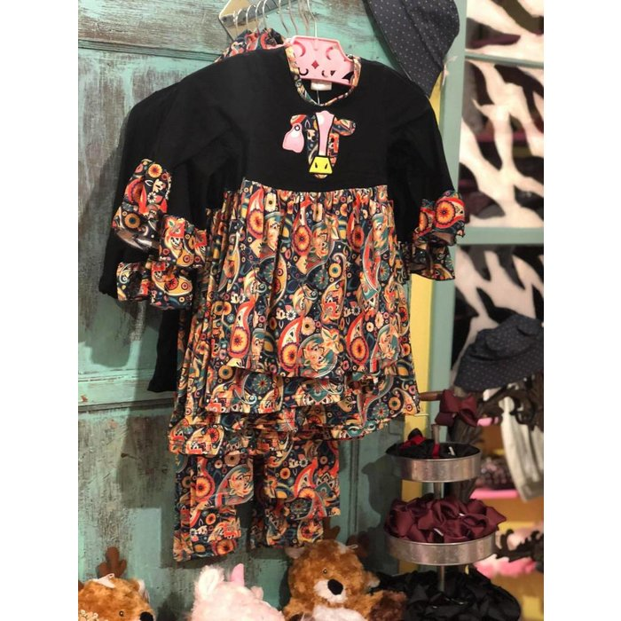 Cow Tag Paisley Dress