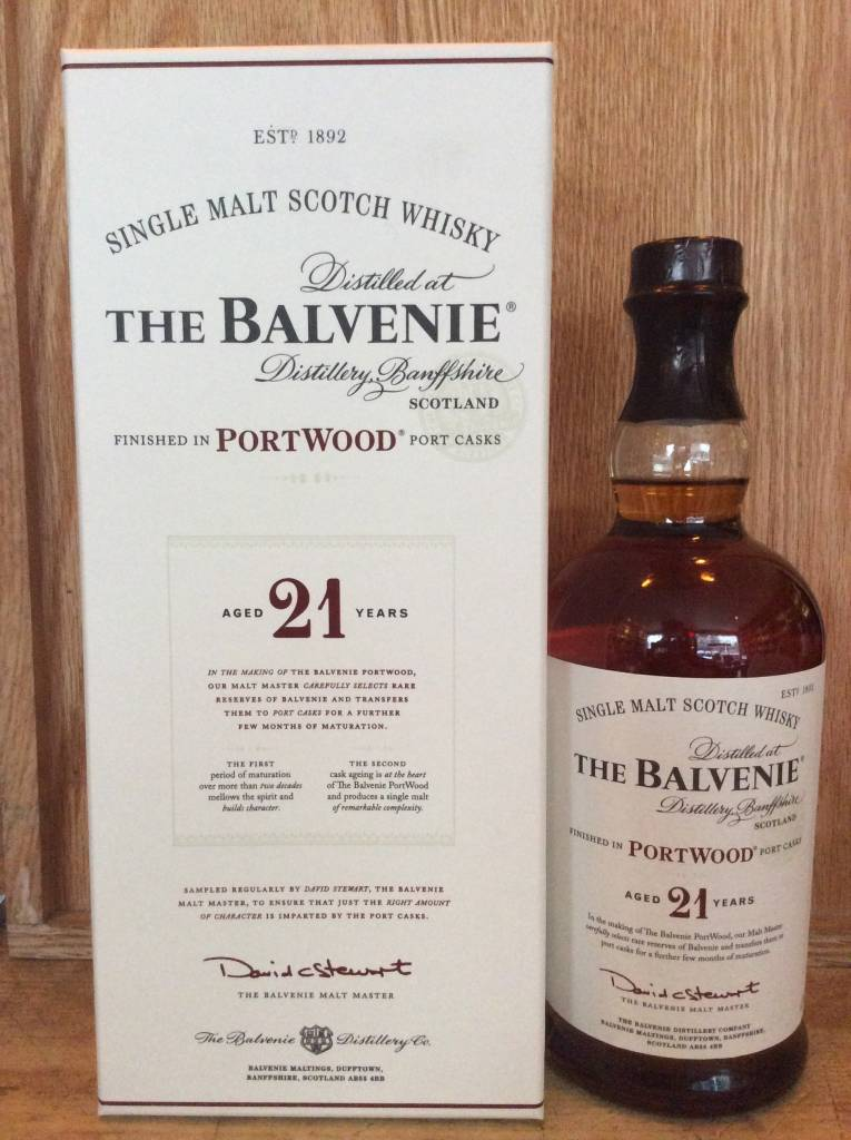 Balvenie 21 Yr Portwood Single Malt Scotch (750ml)