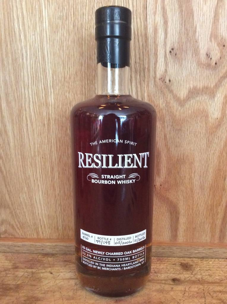 Resilient Straight Bourbon Whisky (750ml)