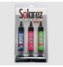 Solarez Solarez Fly-Tie UV Resin Pro Roadie Kit 3pk (with UVA Lamp)