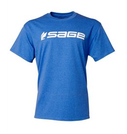 Sage Sage Logo Tee Heather Blue