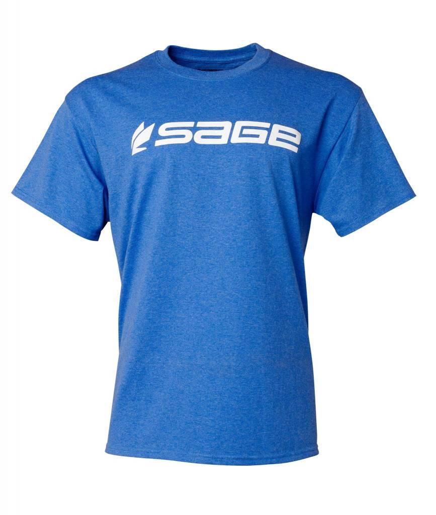 Sage Sage Logo Tee Heather Blue