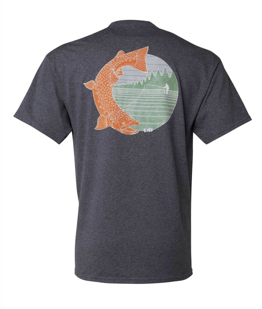 Sage Sage Trout Horizon Tee Heather Navy