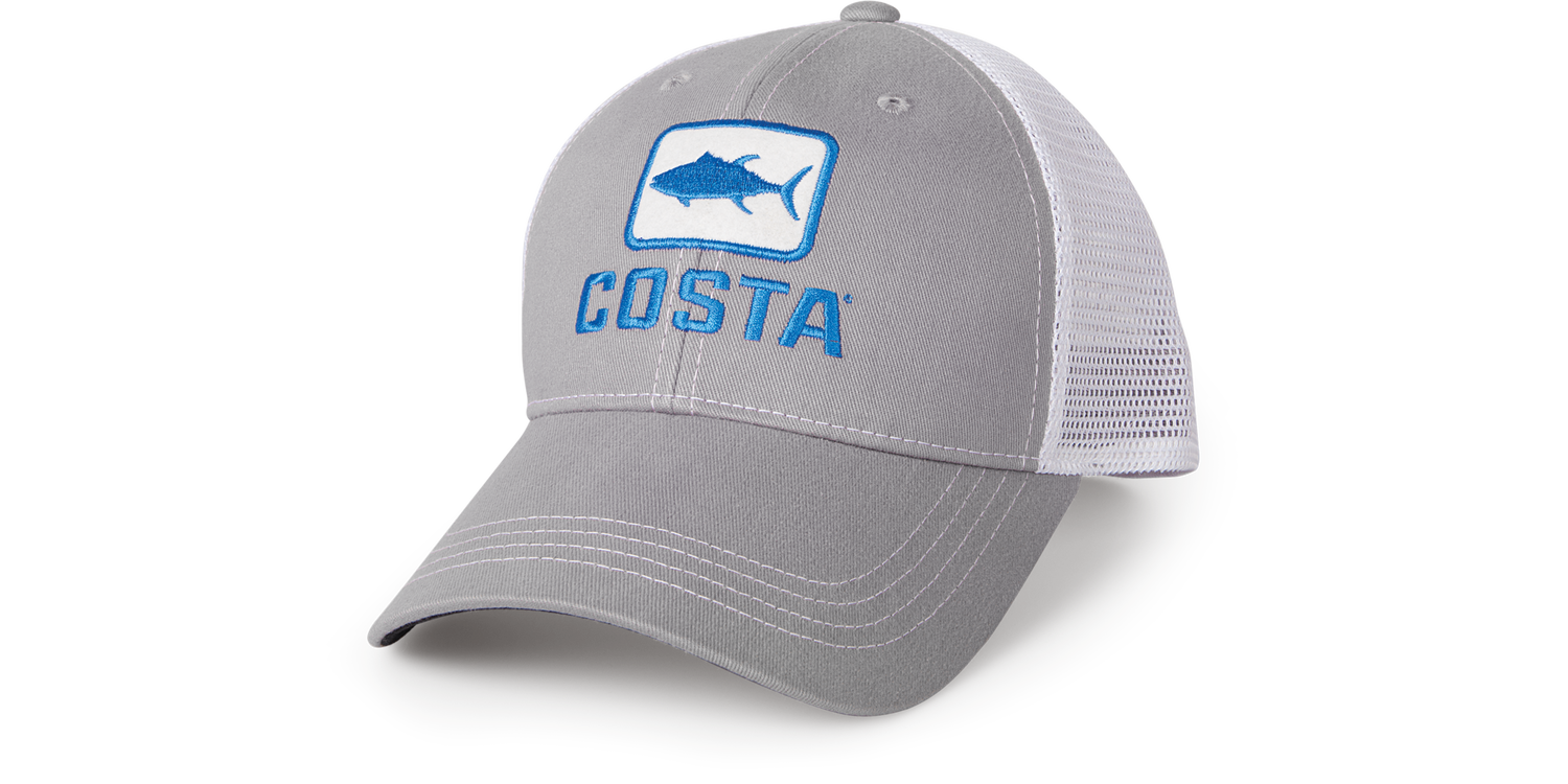 Costa Del Mar Costa XL Trucker Hat Tuna Gray/White