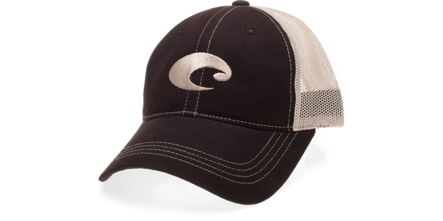 Costa Del Mar Costa Mesh Hat Black/Stone