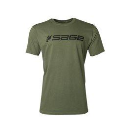Sage Sage Logo Tee Dark Green