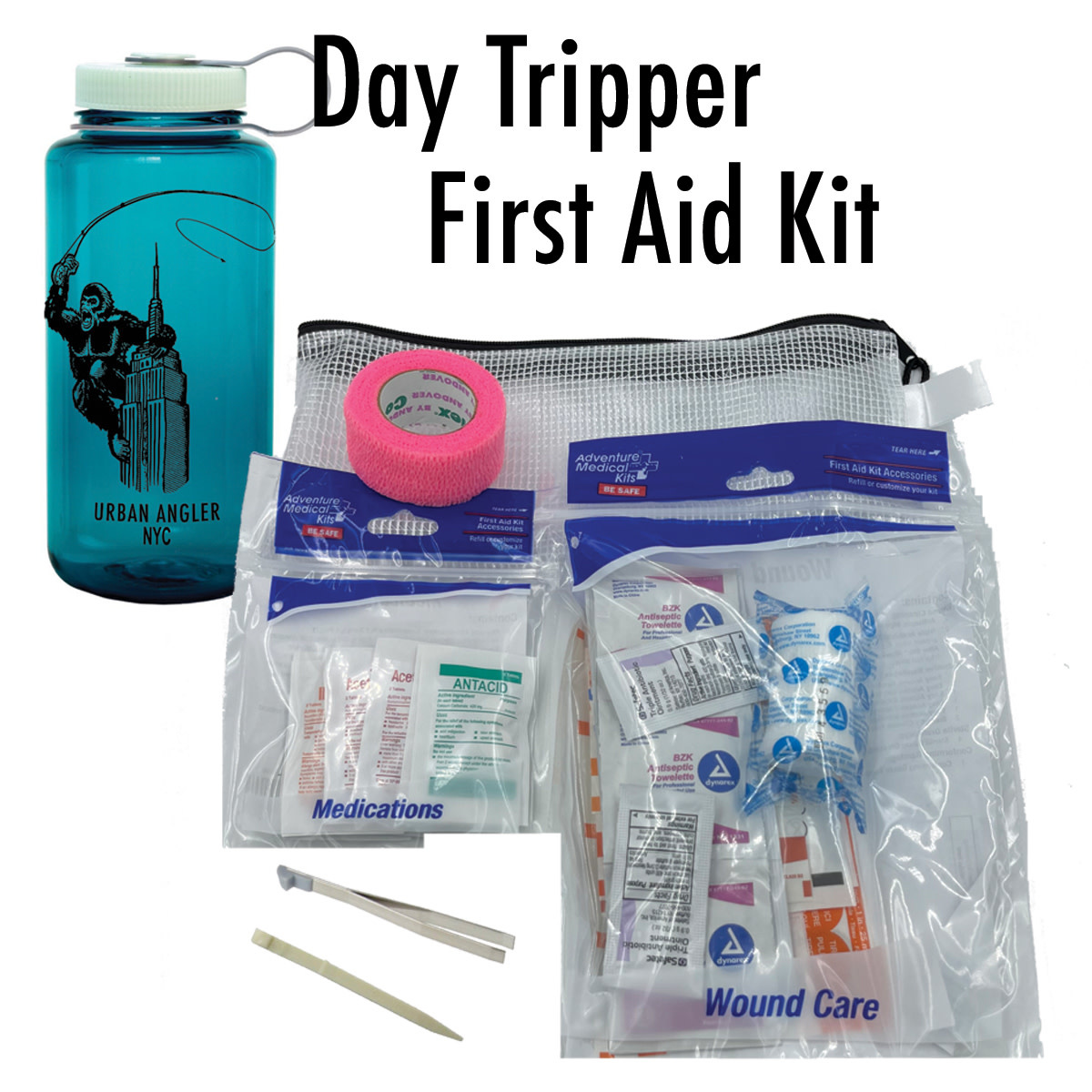 Urban Angler Kong's Clinic Logo Nalgene First Aid Kit