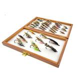Tara Design Tara Design Wooden Fly Box with 33 Classic Atlantic Salmon Flies