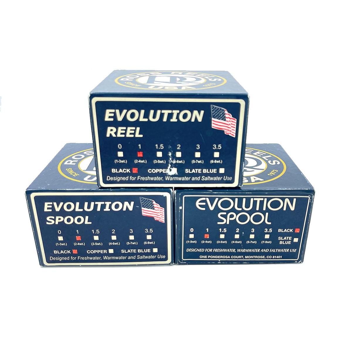 Ross #1 Evolution Reel & 2 Spools