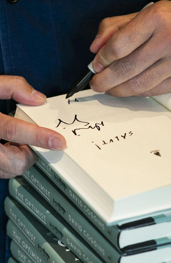 Simon & Schuster The Optimist  by David Coggins (SIGNED COPY)