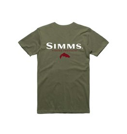 Simms Simms Trout T-Shirt Olive