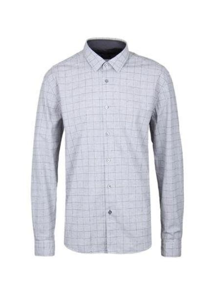 HUGO BOSS SLIM FIT GREY MELANGE SHIRT