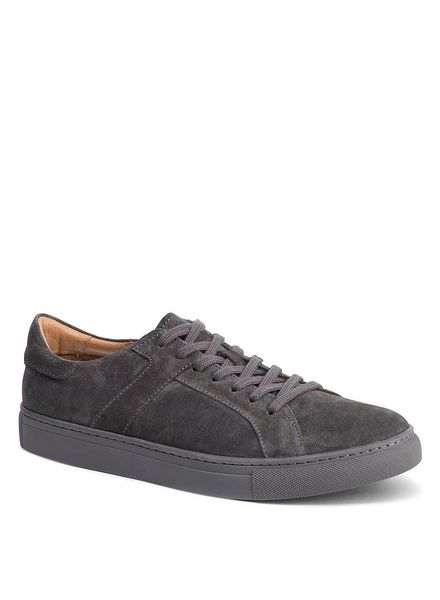 TRASK AARON SUEDE SNEAKERS IN GREY
