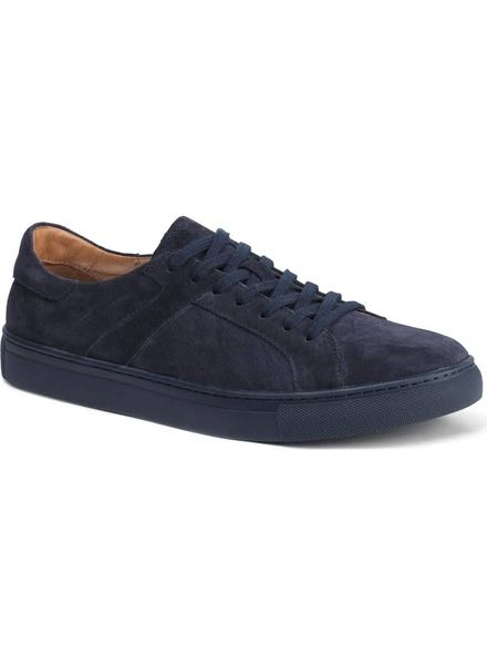 TRASK AARON SUEDE SNEAKERS IN NAVY