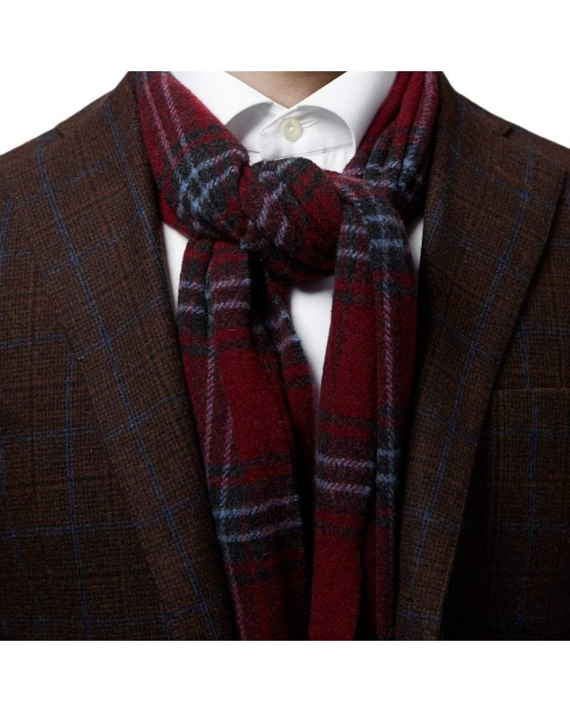 ETON OF SWEDEN PLAID WOOL SCARF