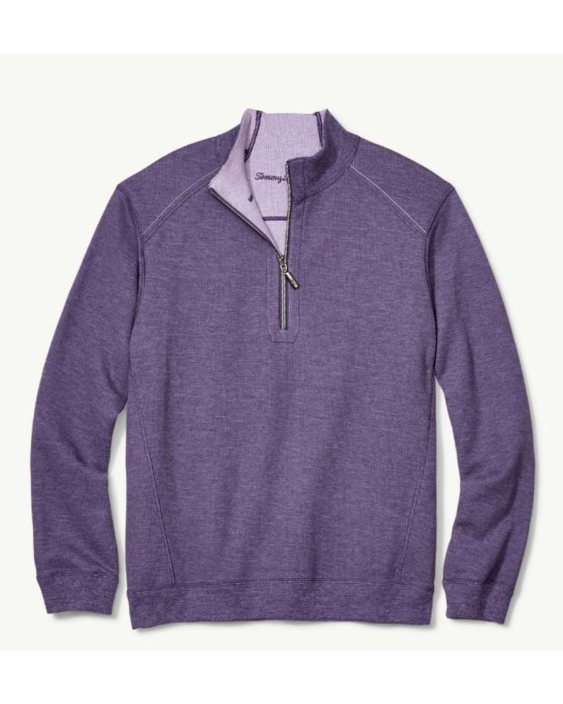 TOMMY BAHAMA REVERSIBLE HALF ZIP SWEATSHIRT