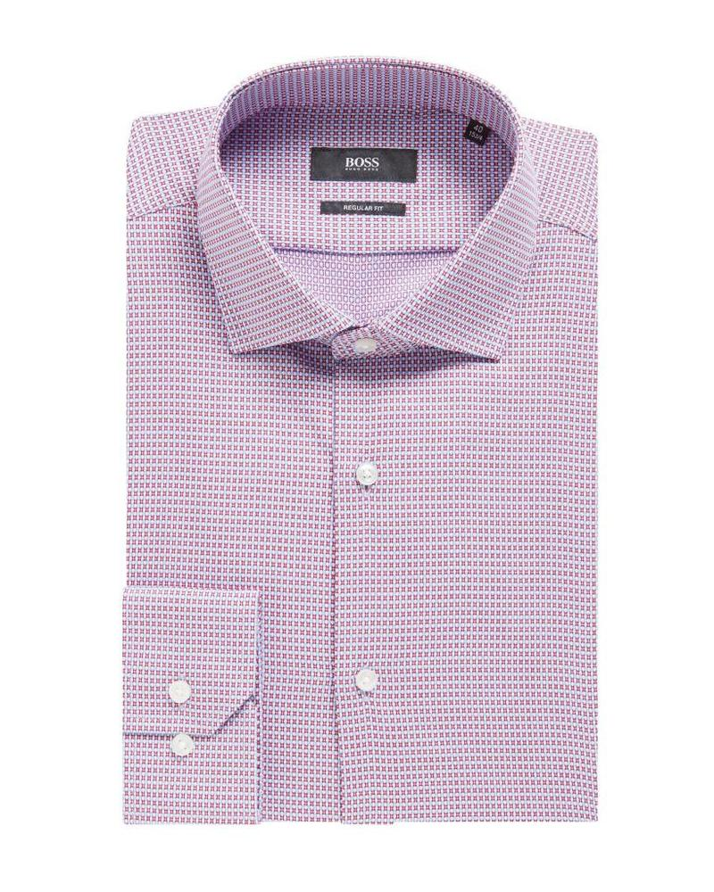 HUGO BOSS REGULAR-FIT DOBBY SHIRT