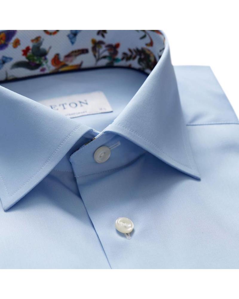 ETON SOLID WITH PRINT DETAILS SHIRT