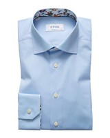ETON OF SWEDEN SOLID WITH PRINT DETAILS SHIRT