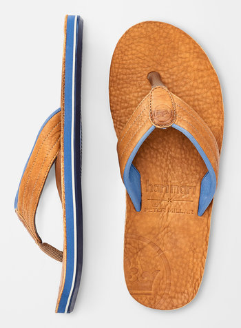 PETER MILLAR LEATHER FLIP FLOPS