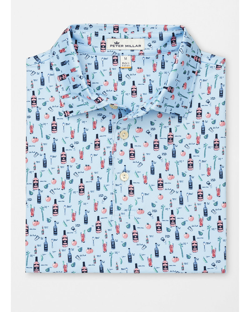 PETER MILLAR BLOODY MARY PRINTED POLO