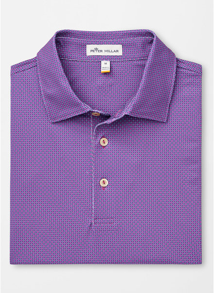 PETER MILLAR PRINTED STRETCH JERSEY POLO