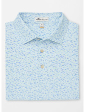 PETER MILLAR PRINTED FISH STRETCH POLO