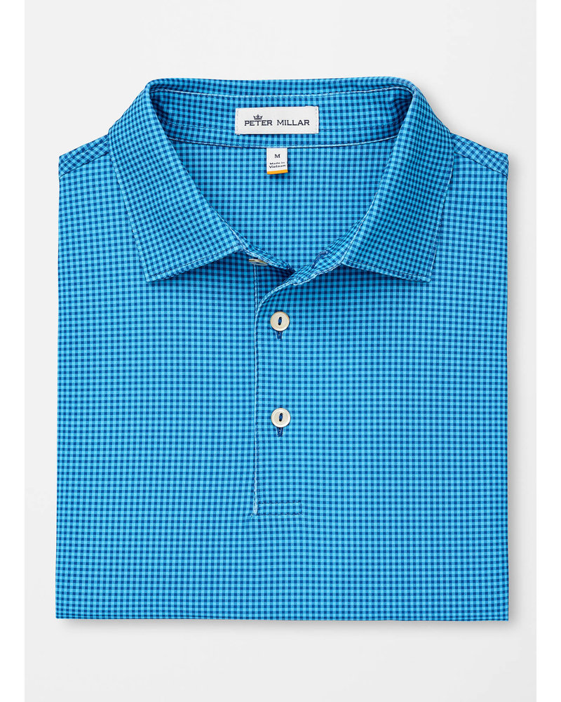 PETER MILLAR PRINTED MINI CHECK POLO