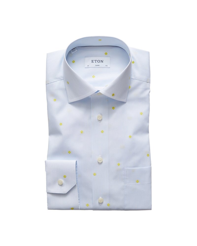 ETON OF SWEDEN STRIPED TENNIS SHIRT
