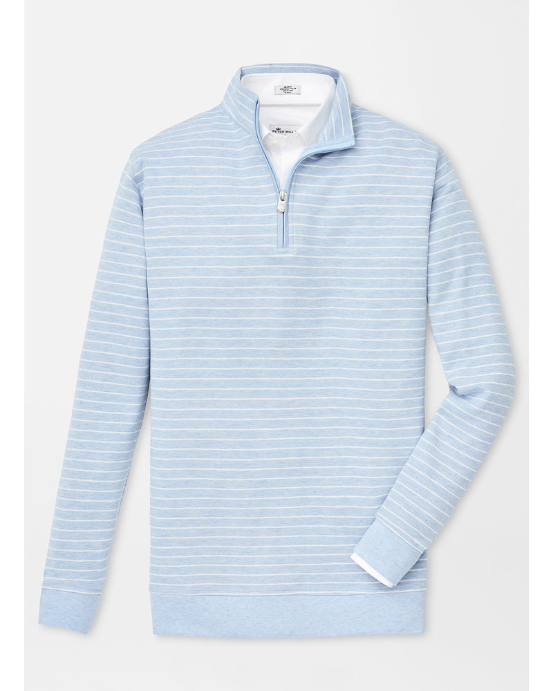 PETER MILLAR STRIPED QUARTER-ZIP