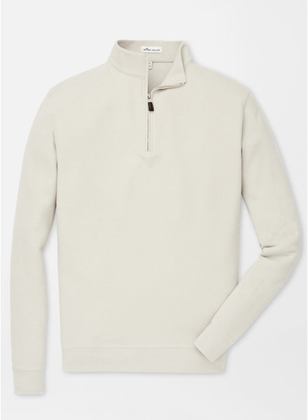 PETER MILLAR TRI-BLEND MELANGE FLEECE QUARTER-ZIP