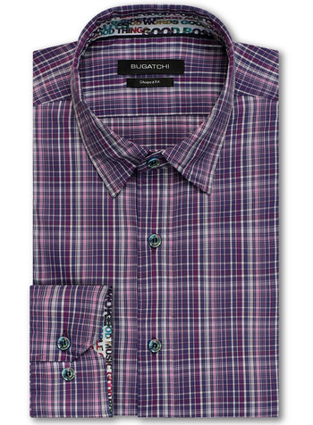 BUGATCHI UOMO PLAID SHIRT