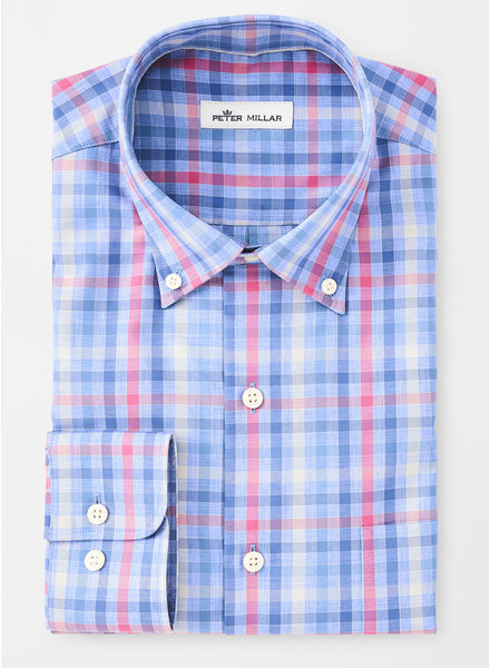 PETER MILLAR MULTI-GINGHAM SPORT SHIRT