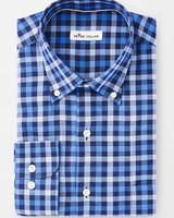 PETER MILLAR STRETCH MULTI-GINGHAM SPORT SHIRT