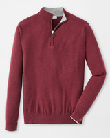 PETER MILLAR CASHMERE/SILK QUARTER ZIP