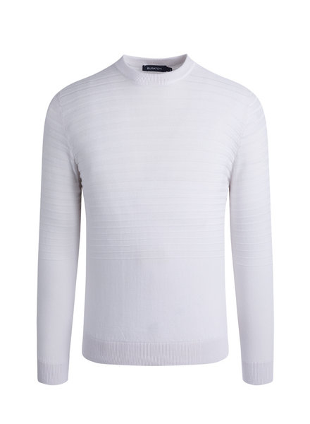 BUGATCHI UOMO LONG SLEEVE CREW NECK