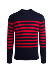 BUGATCHI UOMO STRIPED LONG SLEEVE CREW NECK