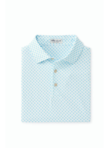 PETER MILLAR SHORT SLEEVE SKULL PRINT POLO