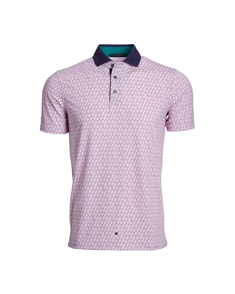 GREYSON CLOTHIERS SHORT SLEEVE PRINT POLO