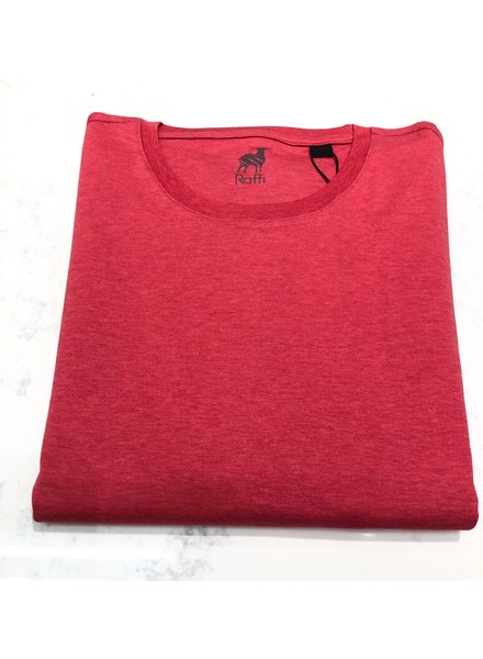 RAFFI AQUA COTTON CREW NECK TEE