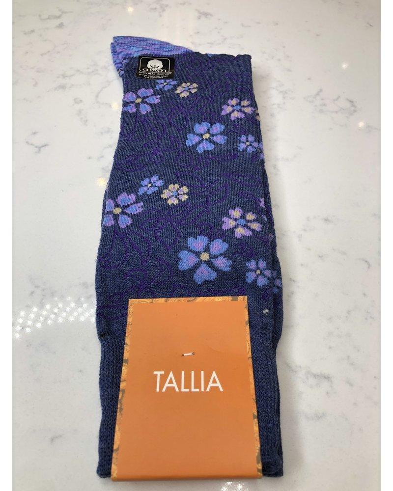 TALLIA FLORAL PRINT SOCKS